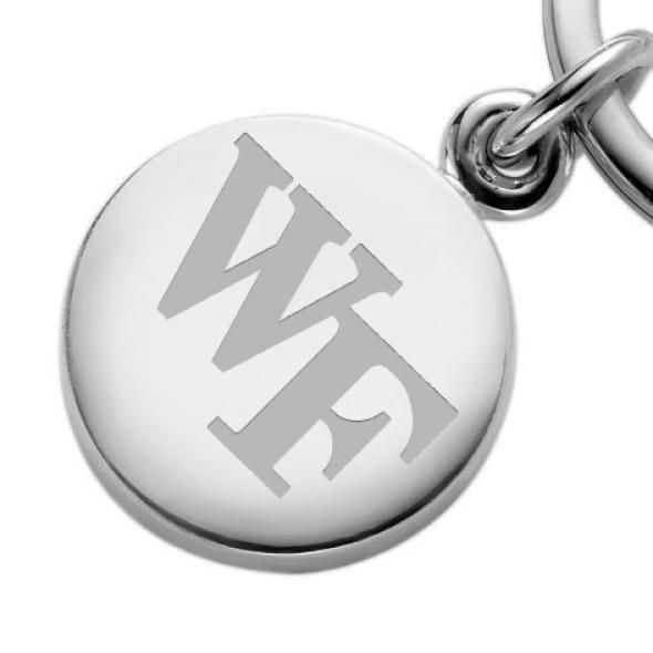 Wake Forest Sterling Silver Insignia Key Ring - Image 2