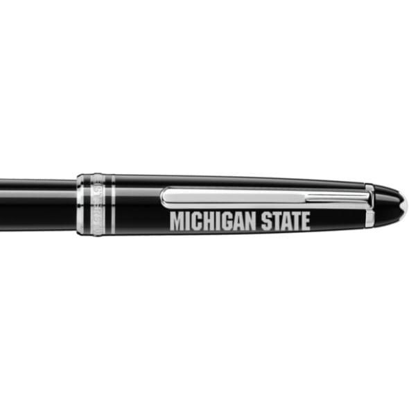Michigan State University Montblanc Meisterstück Classique Rollerball Pen in Platinum - Image 2