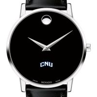 Christopher Newport University Men's Movado Museum with Leather Strap