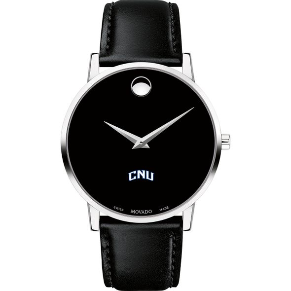 Christopher Newport University Men's Movado Museum with Leather Strap - Image 2