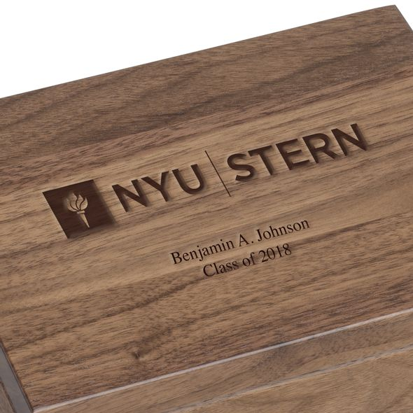 NYU Stern Solid Walnut Desk Box - Image 3