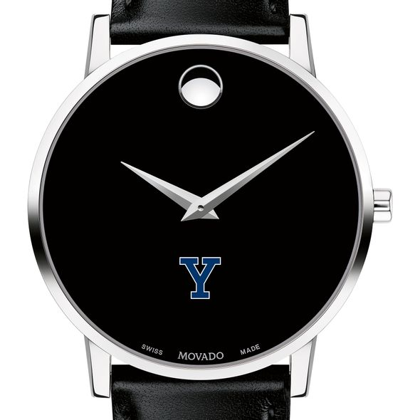 Yale University Men's Movado Museum with Leather Strap
