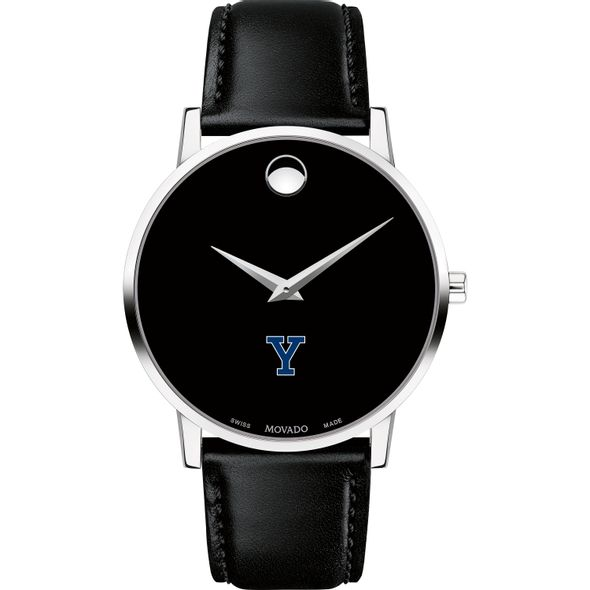 Yale University Men's Movado Museum with Leather Strap - Image 2