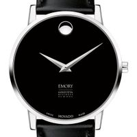 Emory Goizueta Men's Movado Museum with Leather Strap