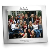 Delta Delta Delta Polished Pewter 8x10 Picture Frame