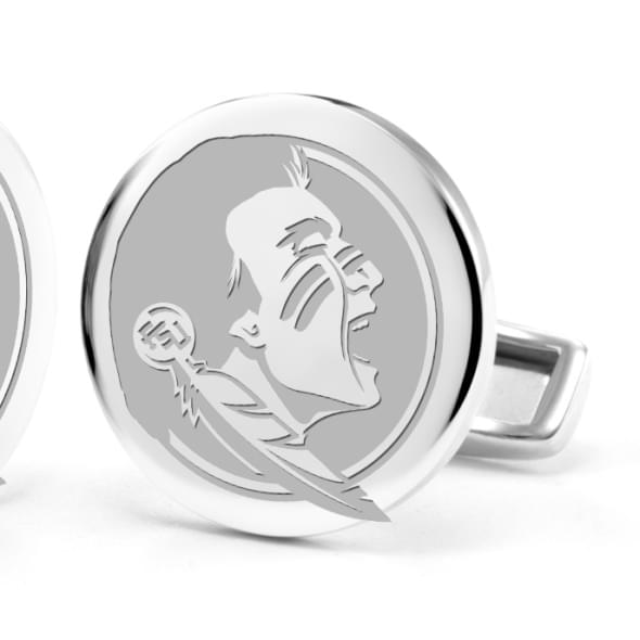 Florida State University Cufflinks in Sterling Silver - Image 2