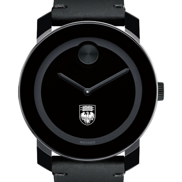 University of Chicago Men's Movado BOLD with Leather Strap