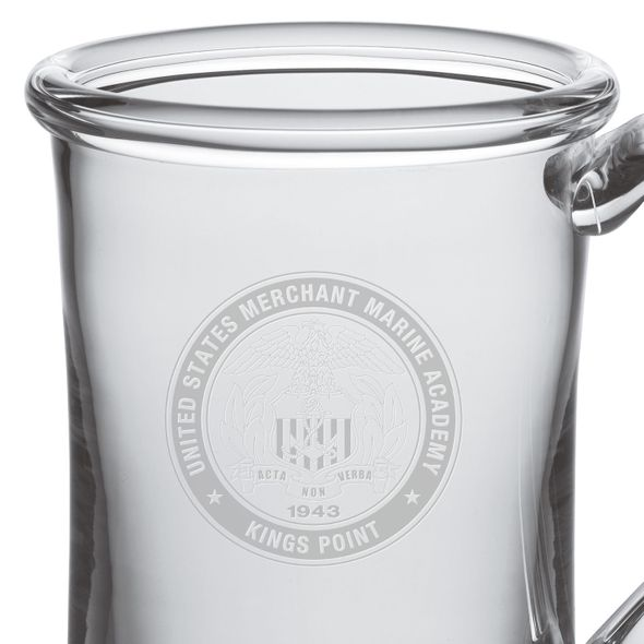 USMMA Glass Tankard by Simon Pearce - Image 2