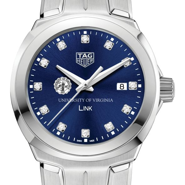 University of Virginia Women's TAG Heuer Link with Blue Diamond Dial