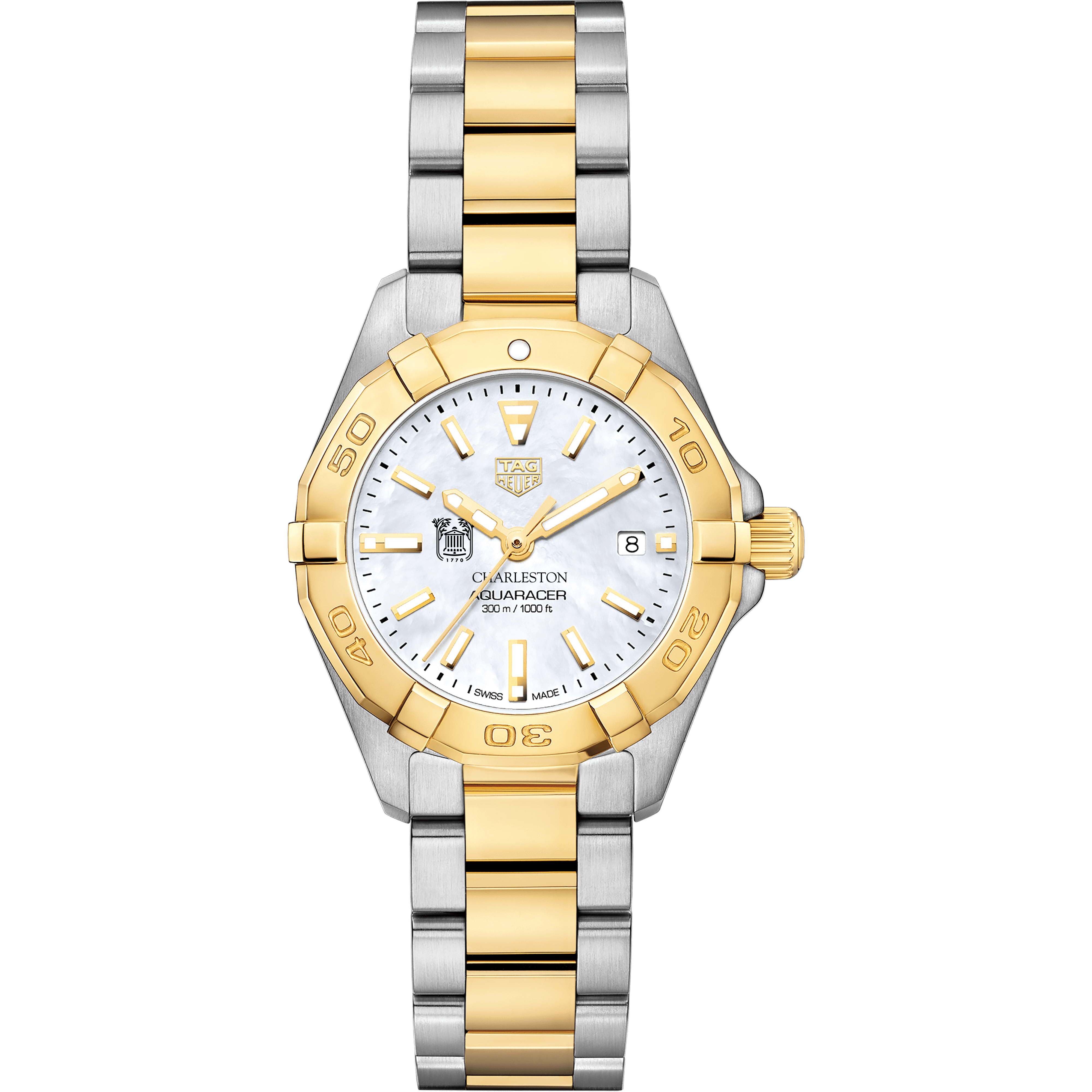 College of Charleston TAG Heuer Two-Tone Aquaracer for Women - Image 2