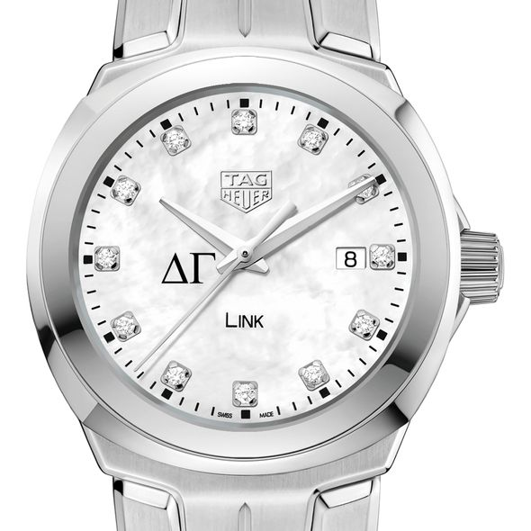 Delta Gamma TAG Heuer Diamond Dial LINK for Women - Image 1