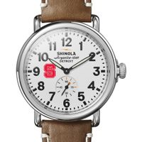 NC State Shinola Watch, The Runwell 41mm White Dial