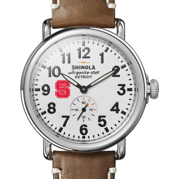 NC State Shinola Watch, The Runwell 41mm White Dial