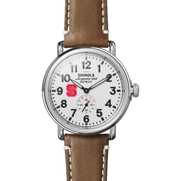 NC State Shinola Watch, The Runwell 41mm White Dial - Image 2