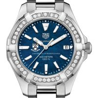 Penn Women's TAG Heuer 35mm Steel Aquaracer with Blue Dial