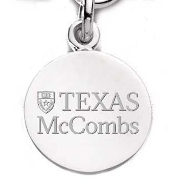 Texas McCombs Sterling Silver Charm - Image 1