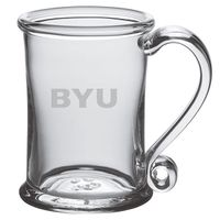 Brigham Young University Glass Tankard by Simon Pearce
