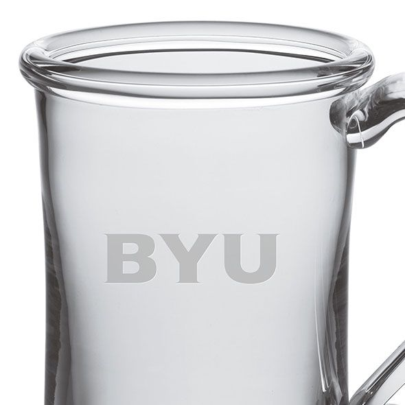 Brigham Young University Glass Tankard by Simon Pearce - Image 2
