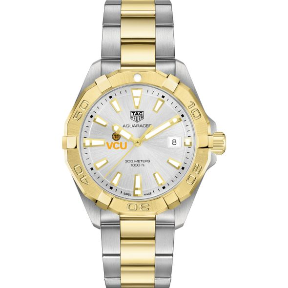 Virginia Commonwealth University Men's TAG Heuer Two-Tone Aquaracer - Image 2