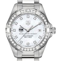 Michigan State University Women's TAG Heuer Steel Aquaracer with Diamonds