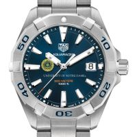 Notre Dame Men's TAG Heuer Steel Aquaracer with Blue Dial