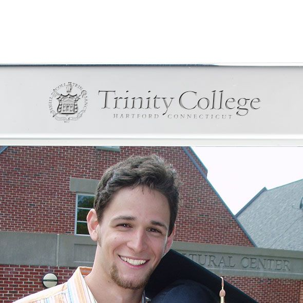Trinity College Polished Pewter 5x7 Picture Frame - Image 2