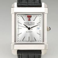 Texas Tech Men's Collegiate Watch with Leather Strap