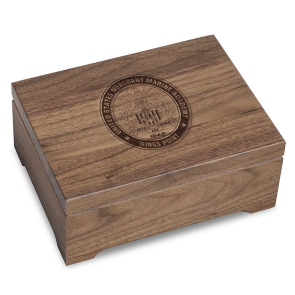US Merchant Marine Academy Solid Walnut Desk Box