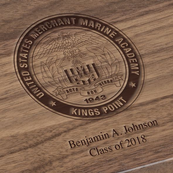 US Merchant Marine Academy Solid Walnut Desk Box - Image 3