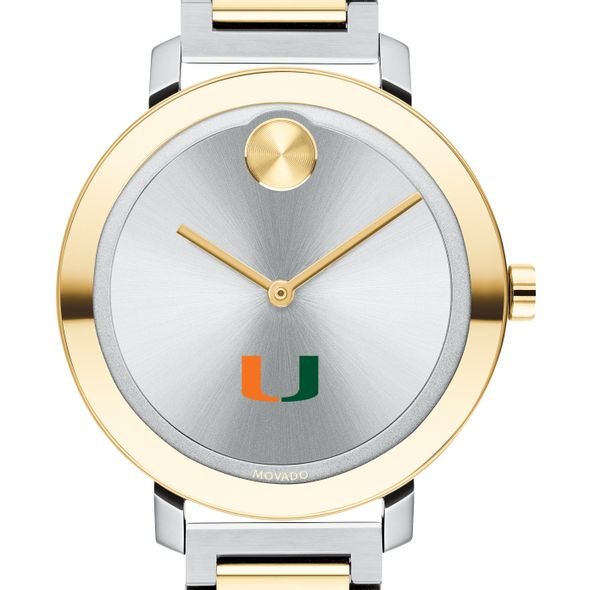 University of Miami Women's Movado Two-Tone Bold 34 - Image 1