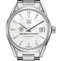 James Madison University Women's TAG Heuer Steel Carrera with MOP Dial