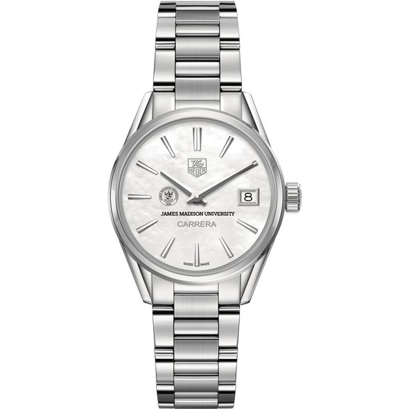James Madison University Women's TAG Heuer Steel Carrera with MOP Dial - Image 2