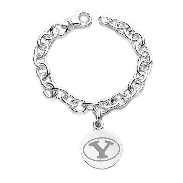 Brigham Young University Sterling Silver Charm Bracelet