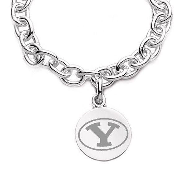 Brigham Young University Sterling Silver Charm Bracelet - Image 2