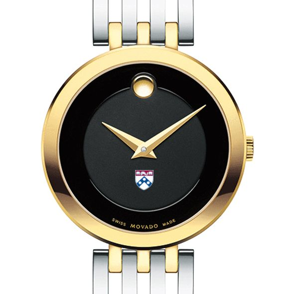 University of Pennsylvania Women's Movado Esparanza Two-Tone Museum with Bracelet