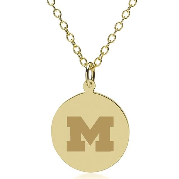University of Michigan 14K Gold Pendant & Chain