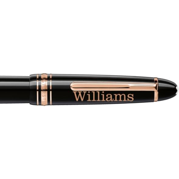 Williams College Montblanc Meisterstück LeGrand Rollerball Pen in Red Gold - Image 2