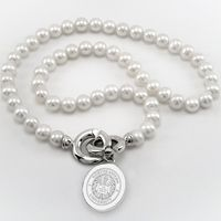 Northeastern Pearl Necklace with Sterling Silver Charm