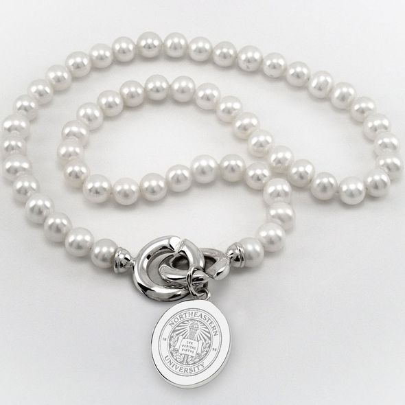 Northeastern Pearl Necklace with Sterling Silver Charm - Image 1