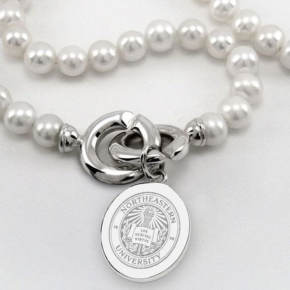 Northeastern Pearl Necklace with Sterling Silver Charm - Image 2
