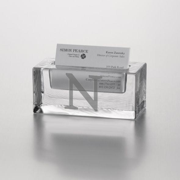 Northwestern Glass Business Cardholder by Simon Pearce