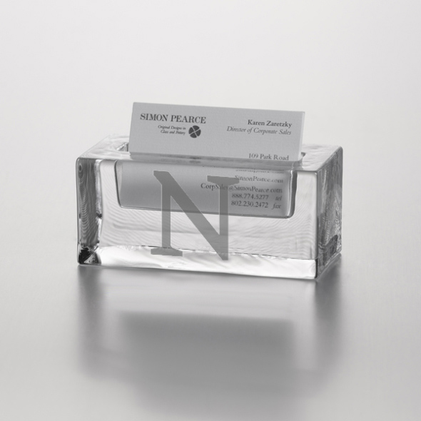Northwestern Glass Business Cardholder by Simon Pearce