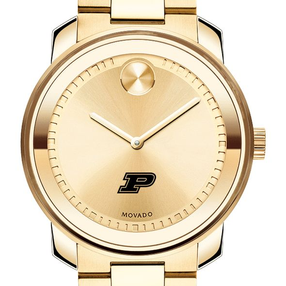 Purdue University Men's Movado Gold Bold