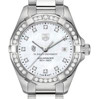 St. John's University W's TAG Heuer Steel Aquaracer with MOP Dia Dial & Bezel