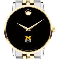 Michigan Ross Men's Movado Two-Tone Museum Classic Bracelet