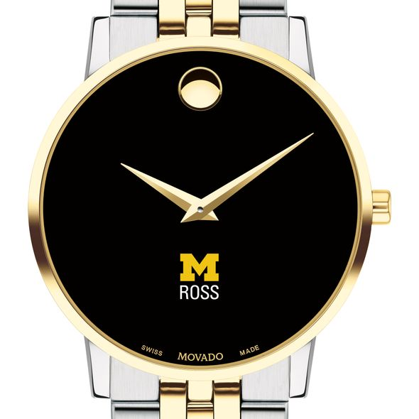 Michigan Ross Men's Movado Two-Tone Museum Classic Bracelet
