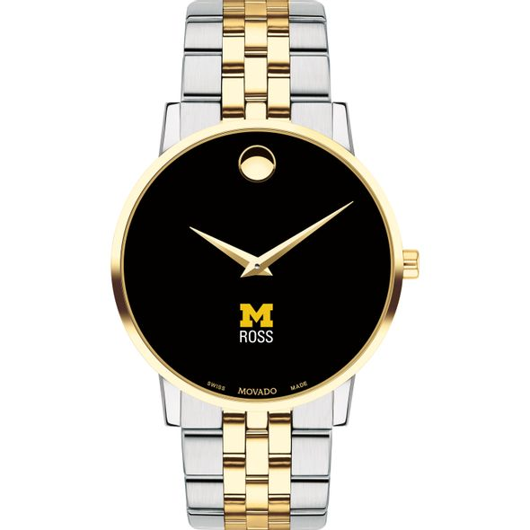 Michigan Ross Men's Movado Two-Tone Museum Classic Bracelet - Image 2