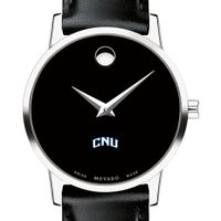 Christopher Newport University Women's Movado Museum with Leather Strap