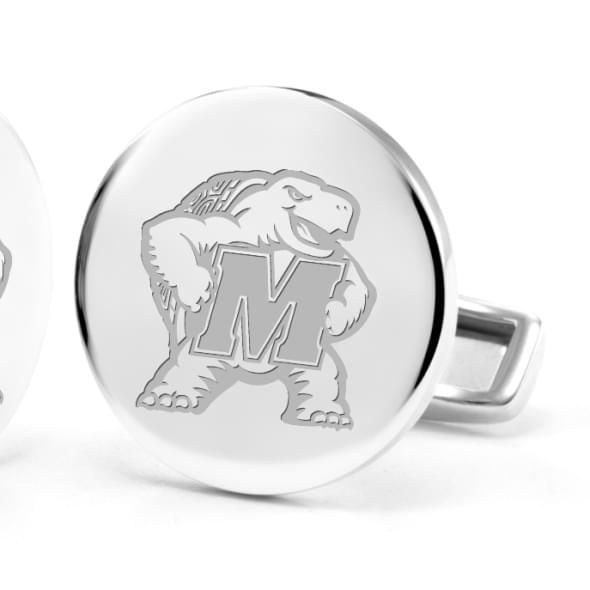 University of Maryland Cufflinks in Sterling Silver - Image 2
