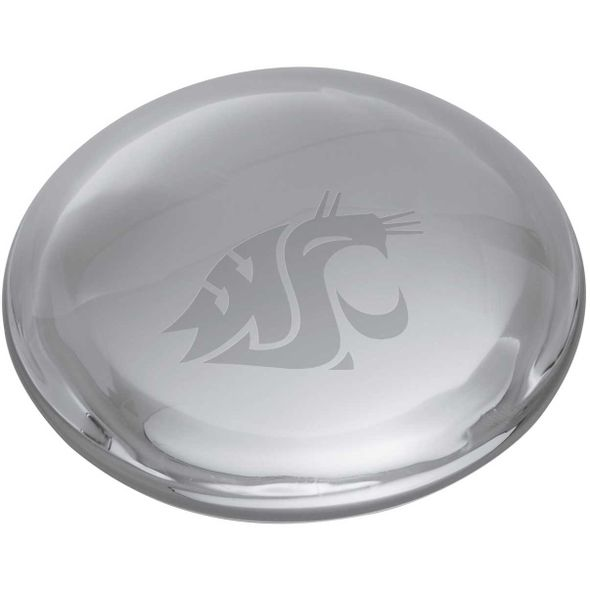 Washington State University Glass Dome Paperweight by Simon Pearce - Image 2